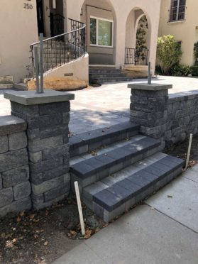 Steps: Charcoal Steps with Pillars Incorporated