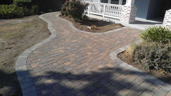 Cream Brown Charcoal Custom Walkway