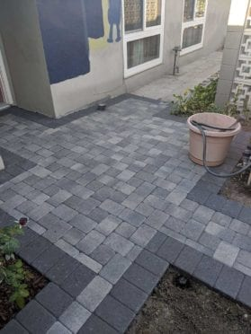 Custom Gray Charcoal Walkway