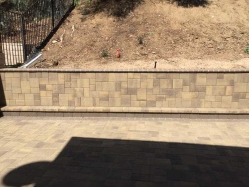 Custom Wall with Courtyard Pavers Finish