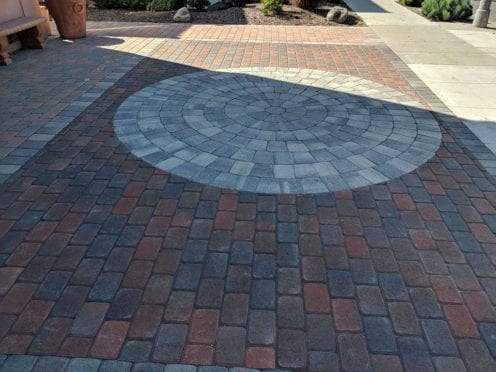 Circles: Red Brown Charcoal With Gray Charcoal Circle Kit Patio