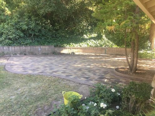 landscape pavers project