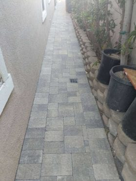 Slate Stone Gray Moss Charcoal Walkway
