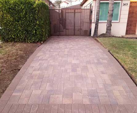 Angelus Courtyard Driveway After