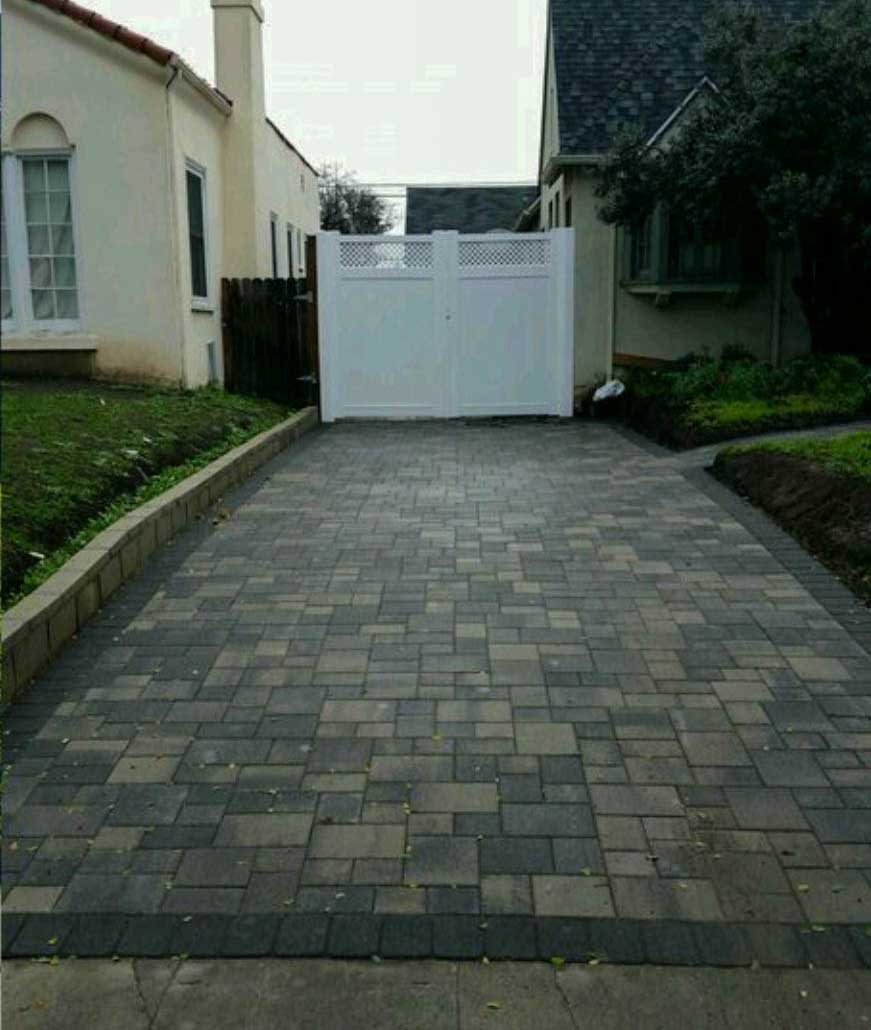 Driveway After Pavers